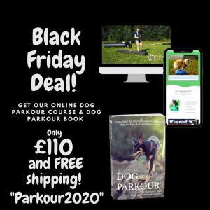 Black Friday Dog Parkour Book & Online Course Deal